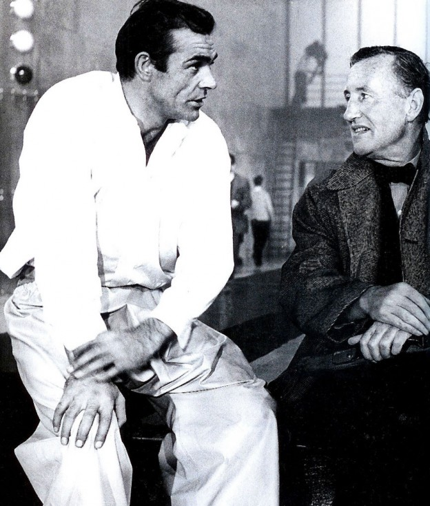 Set-of-Goldfinger-Sean-Connery-with-Ian-Fleming