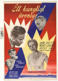 Ett kungligt äventyr (1956) Filmografinr 1956/03